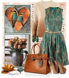 """Be Teal, My Heart"" by leegal57 ❤ liked on Polyvore"
