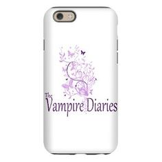 The Vampire Diaries iPhone 6 Tough Case Beautiful red, and pink flowers with biutterflies with #TheVampireDiaries. find this design on fan based merchandise for the popular TV series with Damon, Stefan and Elena love triangle.