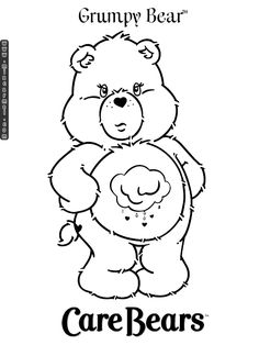 care bears coloring pages | care-bears-coloring-pages-grumpy-bear-1.gif