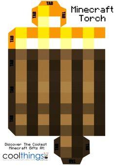 2015 Halloween coolest decor minecraft torch printable pattern - LoveItSoMuch.com