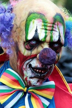 Coulrophobia – [kool-ruh-foh-bee-uh] Noun: An abnormal fear of clowns. Origin: 1980-85; coulro – From the Greek kolon (limb; esp. 'stilt-walker' or clown) + phobia. In short, this:  http://show-world.co.uk/cirque-noir/