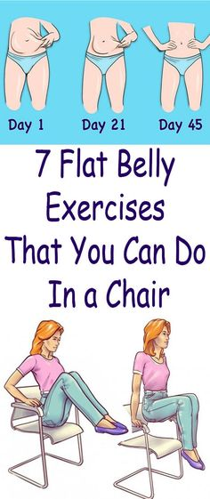 7 Flat Belly Exercises That You Can Do In a Chair