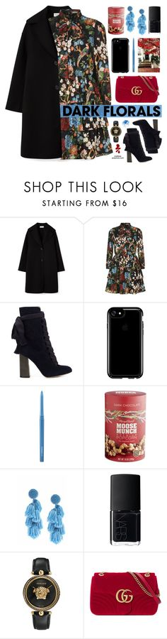 """Dark Florals"" by mylkbar ❤ liked on Polyvore featuring Alice + Olivia, Chloé, Speck, MAC Cosmetics, Harry & David, Sachin + Babi, NARS Cosmetics, Versace, Gucci and darkflorals"