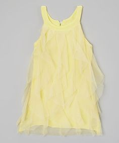 Another great find on #zulily! Yellow Tunic Dress - Toddler & Girls by Kid Swag #zulilyfinds