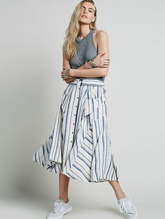Free People Boardwalk Babe Midi Skirt at Free People Clothing Boutique