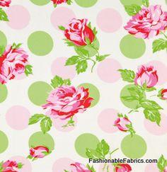 Fabric... Sugar Hill Falling Roses in Pink by Tanya Whelan
