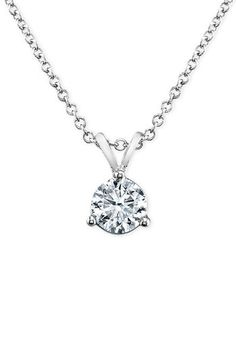 Bony Levy 'Solitaire' Diamond Pendant Necklace (Nordstrom Exclusive) available at #Nordstrom