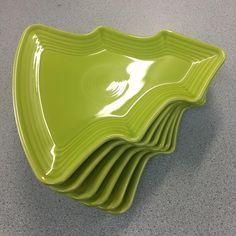 """Well those are pretty #stinkincute #fiestaware #treeplate"" | Richard Roach (@cantondishbarn) on Instagram"