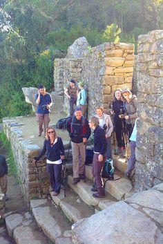Inca Trail naar Machu Picchu aankomst aan Inti Punku