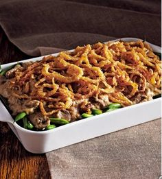 Love me some green bean casserole during holiday dinners