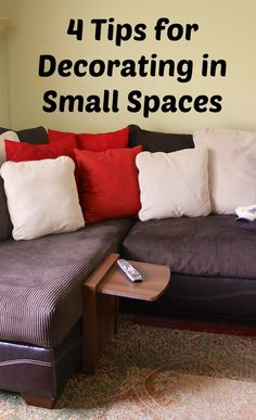 Four Tips For Decorating In Small Spaces