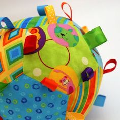 great fabric tag ball for babies & children