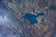Lake Van, eastern Turkey.  Taken October 17, 2013.  KN from space.
