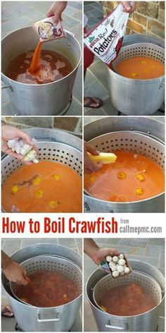 How to Boil Crawfish | Crawfish Recipe - Including a Crawfish Boil Recipe, where to purchase, how much you'll need per person, how to store, boil, and serve. Cajun Seafood Boil, Cajun Crawfish, Crawfish Recipes, Seafood Boil Recipes, Cajun Recipes, Seafood Dishes, Cooking Recipes, Boiling Crawfish, Louisiana Crawfish Boil Recipe