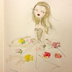 Spring dress. #tulle #emiliaclarke #frenchvogue #ballerina #sketch