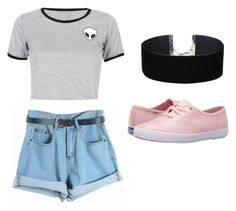 """""""Untitled #253"""" by bandsdestroyamylife on Polyvore featuring Miss Selfridge, WithChic, Chicnova Fashion and Keds"""