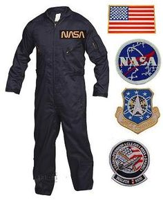 Looks good...all sizes...Here at army surplus world we carry a great looking Astronaust costume. The astronaut costume is a navy blue flightsuit with patches. This is not a cheap flightsuit imitation. The astronaut costume looks and feels just like the actual issue flightsuit with all the bells and whistles. The flightsuit is poly/cotton with 2 way front zippers, leg zippers, and adjustable waist and cuffs. The flightsuit comes with 5 full-size military patches SEWN on the flightsuit…