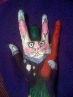 zabawy podczas spotkania z koleżanką:) królik mojego autorstwa