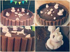 Geburtstag Kuchen l Schweinchen l Fondant l Selfmade l Torte l Schokoriegel l Happy Birthday l Geburtstagsgeschenk l Duploriegel l