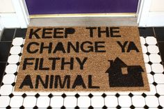 'Home Alone' Inspired Doormat