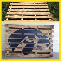 Iowa Hawkeye Pallet for Austin's man cave or outside.