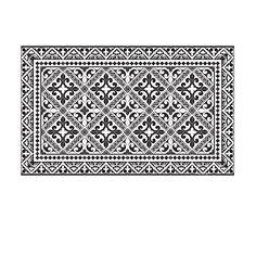 tapis de sol vinyle imitant les carreaux ciment d clin en 60 mod les at beija flor. Black Bedroom Furniture Sets. Home Design Ideas