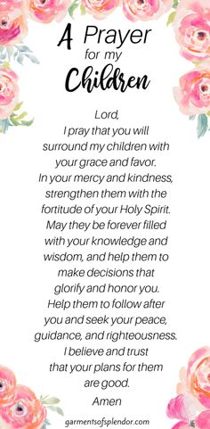 35 Scriptures to Pray Over your Children (with Free Prayer Calendar) -