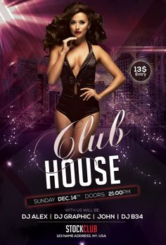 Club House – Download Freebie PSD Flyer Template