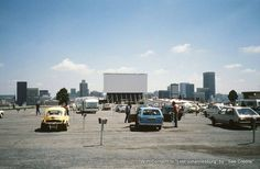 The Top Star Drive-In (built on top of a mine dump overlooking the city of Johannesburg) Johannesburg City, Third World Countries, Drive In Theater, My Family History, Inner World, African History, The Good Old Days, Back In The Day, Old Pictures