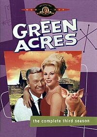 Green Acres is an American sitcom starring Eddie Albert and Eva Gabor as a couple who move from New York City to a rural country farm.