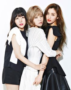 Orange Caramel (Raina, Lizzy, Nana) for Ize magazine After School Routine, School Routines, After School Kpop, Girl Day, My Girl, School Snacks For Kids, Orange Caramel, Poses, Korean Girl Groups