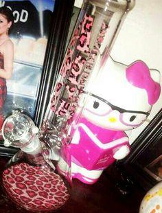 Cheetah bong #hellokitty #pink