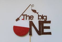 1st birthday cake topper/fishing cake topper/birthday party/fishing party/the big one cake topper by PaperMyLife on Etsy