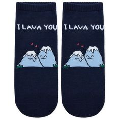 ca87465481c Forever21 I Lava You Graphic Socks ( 1.90) ❤ liked on Polyvore featuring  intimates