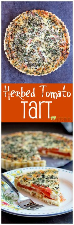 Herbed Tomato Tart from EricasRecipes.com