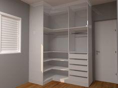 Bedroom Cupboard Designs, Bedroom Closet Design, Room Ideas Bedroom, Home Room Design, Closet Designs, Corner Wardrobe Closet, Bedroom Wardrobe, Closet Renovation, Closet Layout