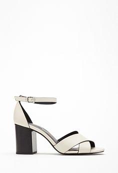 Crisscross Ankle Strap Heels | Forever 21 - 2002247358