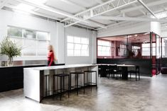 Made For StudioStudio - Melbourne - Office Snapshots Office Interior Design, Office Interiors, Breakout Area, Corporate Design, Steel Frame, Industrial Style, Melbourne, Lounge, Table