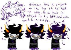 Gamzee Makara hair Homestuck Characters 45327a302