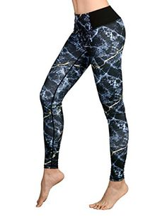 392ca7574 DOVPOD Printed Yoga Pants High Waist Fitness Plus Size Workout Leggings  Tommy Control Capris for Women
