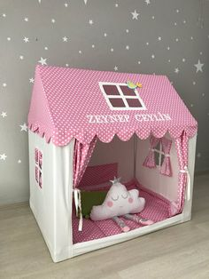 Pink Canvas Teepee Playhouse Tent Indoor Tipi Cotton Play House Montessori Bed Tee pee for Girls Kids Rooms Decor Girls Play Cottage beauty care Bed Education, Canvas Teepee, Toddler Furniture, Teepee Kids, Teepee Tent, Toddler Teepee, Kids House, Play Houses, Diy For Kids