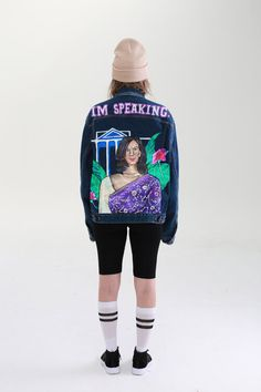 Vintage Levis Denim Jacket, Levi Denim Jacket, Purple Saree, Famous Words, Kamala Harris, Women Empowerment, Street Wear, Graphic Sweatshirt, Sweatshirts