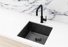 Kitchen Sink - Single Bowl 450 x 450 - Gunmetal Black - Matte Black Gun Metal Laundry Machine Laundry Sign Laundry Washer Single Sink Kitchen, Kitchen Sink, Diy Laundry, Metal, Stainless, Stainless Steel Kitchen, Black Sink, Sink, Steel