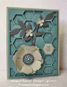 Dictionary ;  Mixed bunch ; Blossom Punch ; PTI Hexagon cover plate ; Itty bitty accents punch pack ; Secret garden framelits ; Hexagon punch