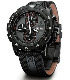 Victorinox Swiss Army Alpnach Black Ice Chronograph