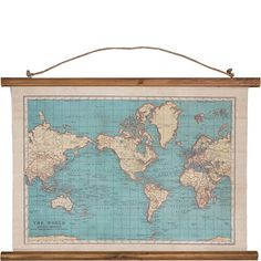 Sass & Belle Vintage Wall Art Atlas, $25 plus postage from dealsdirect
