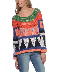 Free People 'Modern Art' Pullover Sweater