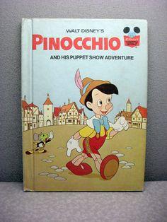 Pinocchio Vintage Disney Book.