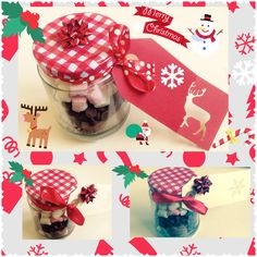 Cadburys Hot Chocolate in a jar with a write your own gift tag. £2.80
