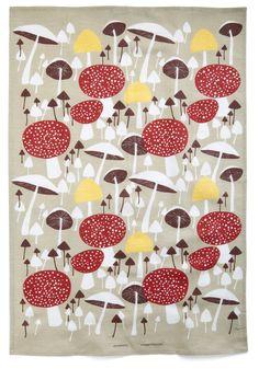 Mushroom for One More Tea Towel